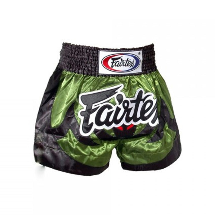 Short Fairtex para Muay Thai Bat Verde - MMA Store Peru
