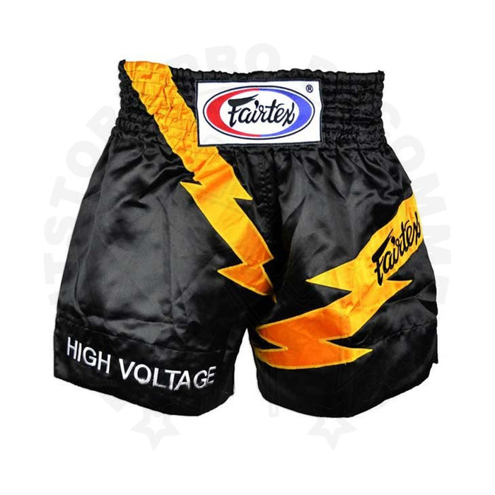 Short Fairtex para Muay Thai High Voltage Negro - MMA Store Peru