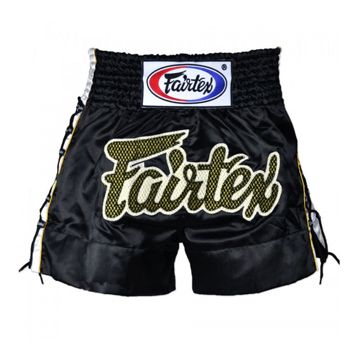 Short Fairtex para Muay Thai Lace Negro