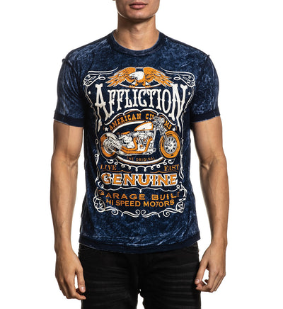 Polo Affliction AC Iroquois Reversible  -100% Algodón