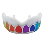 Protector Bucal Rainbow Damage Control con dientes de colores. Ideal para todo deporte