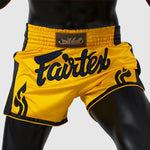 Shorts para Muay Thai Fairtex Slim Cut 1701 Amarillo
