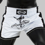 Shorts para Muay Thai Fairtex Slim Cut 1707 Blanco