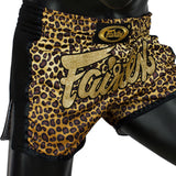 Shorts para Muay Thai Fairtex Slim Cut 1709 Leopard
