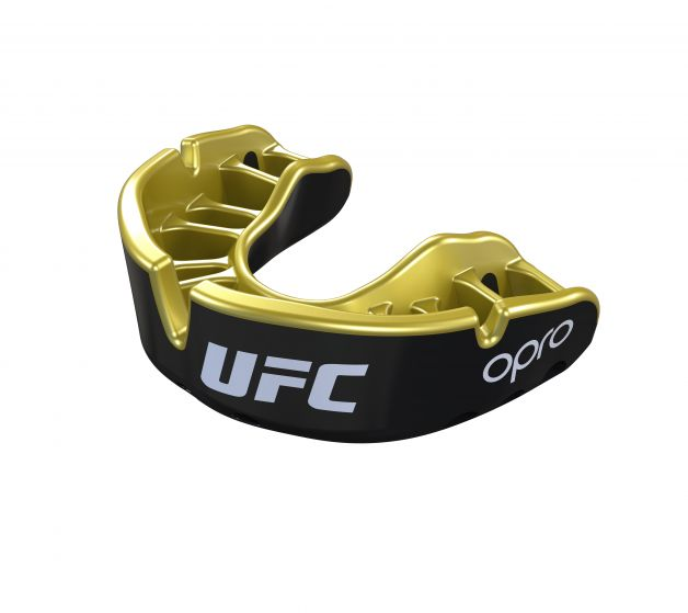 Protector Bucal OPRO UFC - Gold - Negro - Adulto - MMA Store Peru