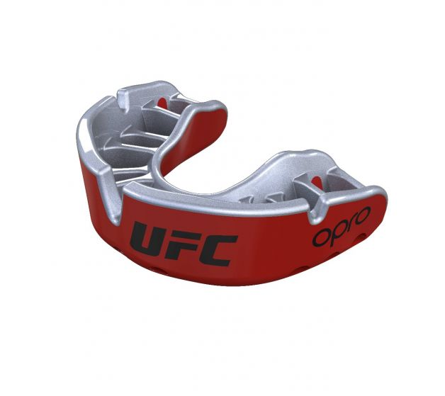 Protector Bucal OPRO UFC - Gold - Rojo - Adulto - MMA Store Peru