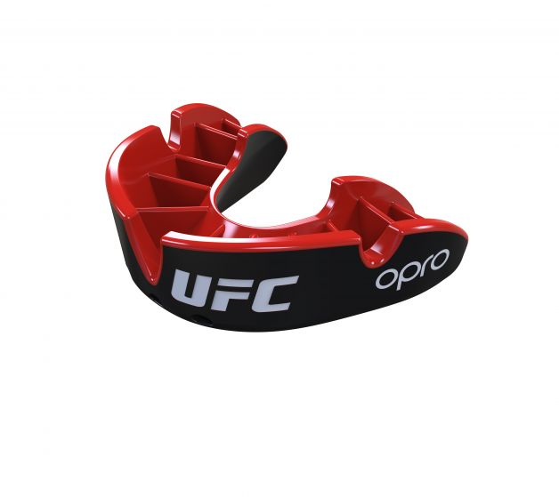 Protector Bucal OPRO UFC - Silver - Negro - Adulto - MMA Store Peru
