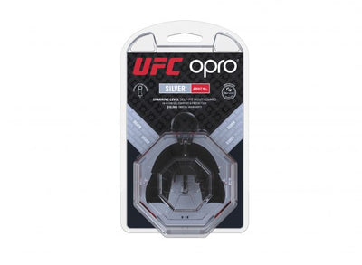 Protector Bucal OPRO UFC - Silver - Rojo - Adulto