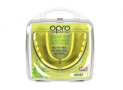Protector Bucal OPRO - Snap-Fit - Amarillo Limon - Adulto - MMA Store Peru