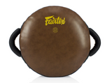 Escudo Circular Fairtex Marron -  - 100% Cuero Syntek