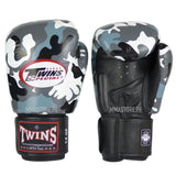 Guantes Twins Special Muay Thai - Boxeo- Army Gris - 100% Cuero - MMA Store Peru