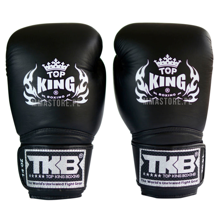 Guantes de Boxeo Top King Super Air Negro - 100% Cuero