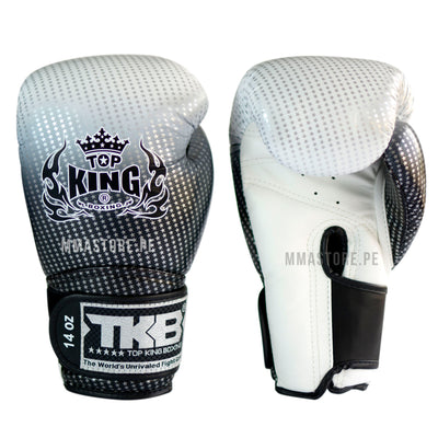 Guantes de Boxeo Top King Super Star Plateado - 100% Cuero