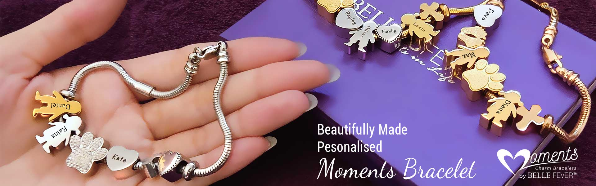 Personalised Moments Charm Bracelet Jewellery By Belle Fever