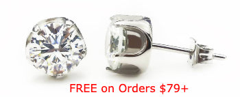 Free Round Stud Earrings