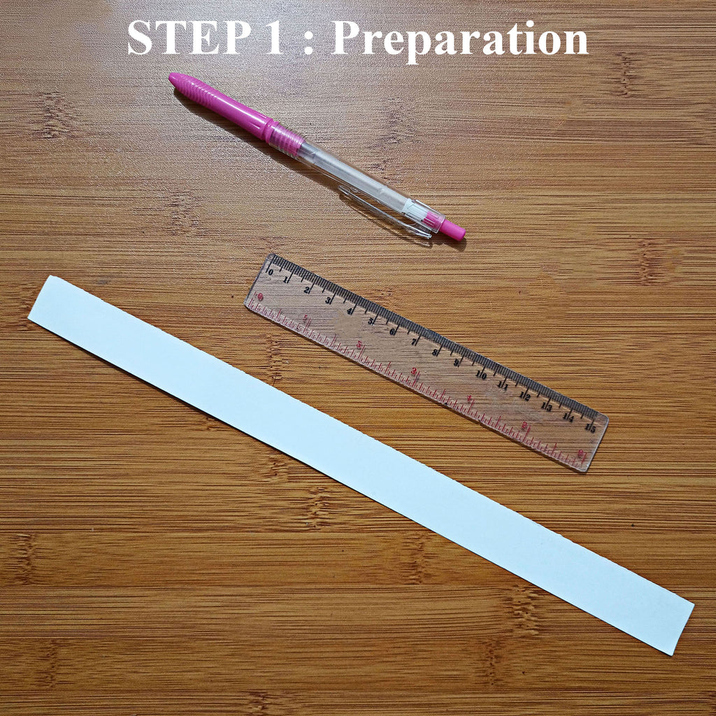 Prepare all the tools that you will need such as Strip of paper, ruler, a pen and Belle Fever Ring size chart