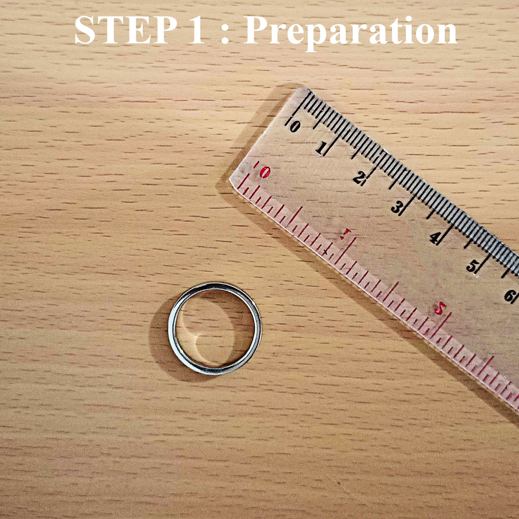 Prepare the tools that you will need such as Ring and Ruler