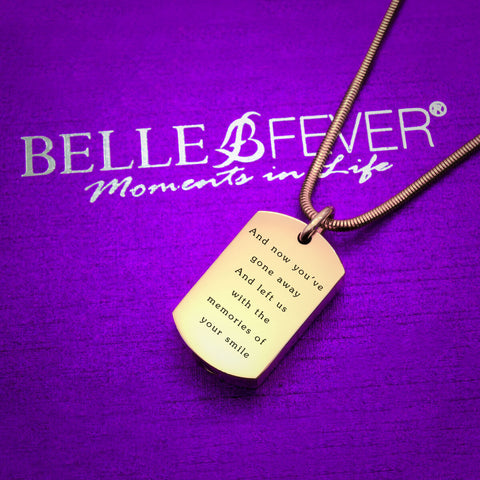 Memory Tag Personalised Cremation Necklace