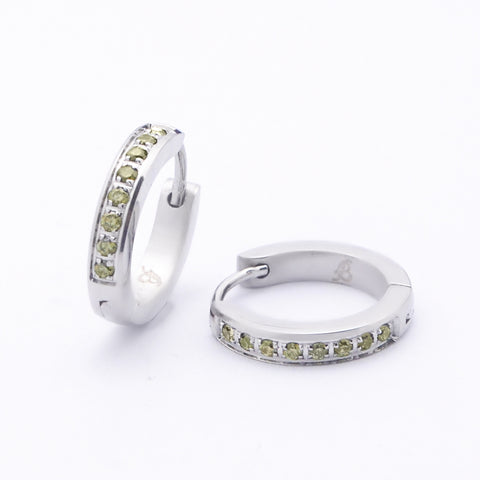 Zircon Hoop Earrings