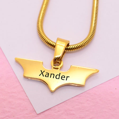 ADDITIONAL Batman Cut Out Necklace-Silver- BELLE FEVER Personalised Jewellery