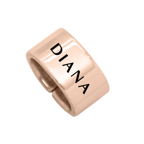 Additional Charm for Leather Bracelet-Rose Gold- BELLE FEVER Personalised Jewellery