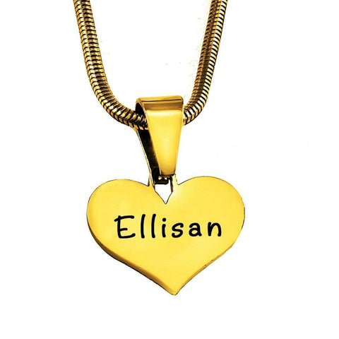 ADDITIONAL Stolen Heart Cut Out Necklace-Gold- BELLE FEVER Personalised Jewellery
