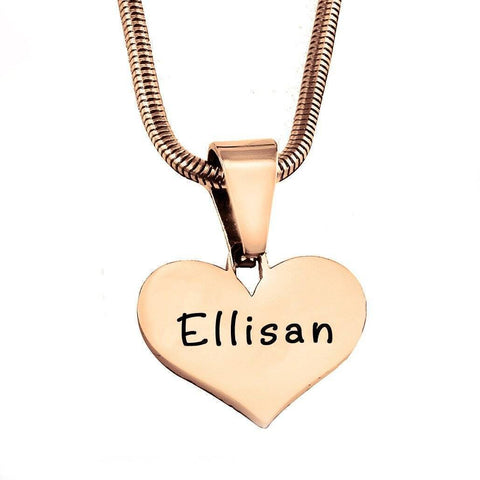ADDITIONAL Stolen Heart Cut Out Necklace-Rose Gold- BELLE FEVER Personalised Jewellery