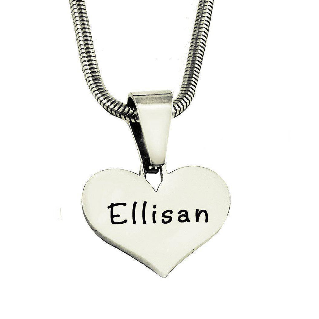 ADDITIONAL Stolen Heart Cut Out Necklace-Silver- BELLE FEVER Personalised Jewellery