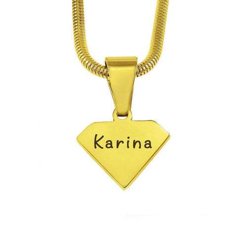 ADDITIONAL Superman Cut Out Necklace-Gold- BELLE FEVER Personalised Jewellery