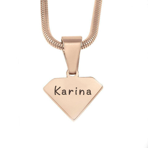 ADDITIONAL Superman Cut Out Necklace-Rose Gold- BELLE FEVER Personalised Jewellery