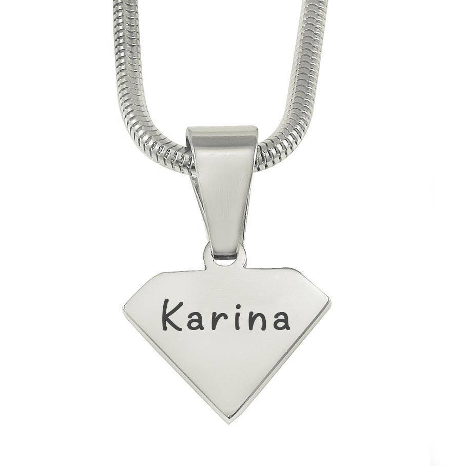 ADDITIONAL Superman Cut Out Necklace-Silver- BELLE FEVER Personalised Jewellery