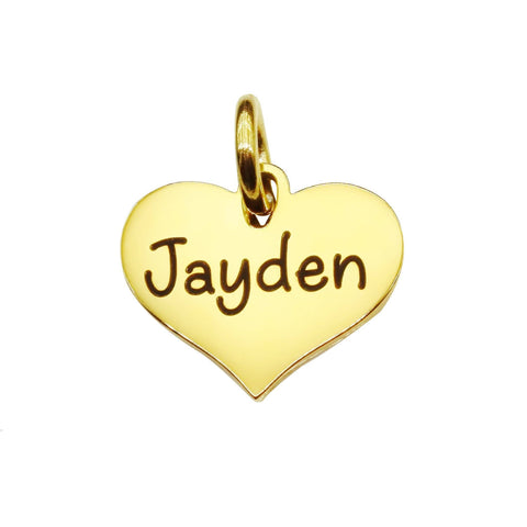 AddOn Special Heart Charm for Keyring-Gold- BELLE FEVER Personalised Jewellery
