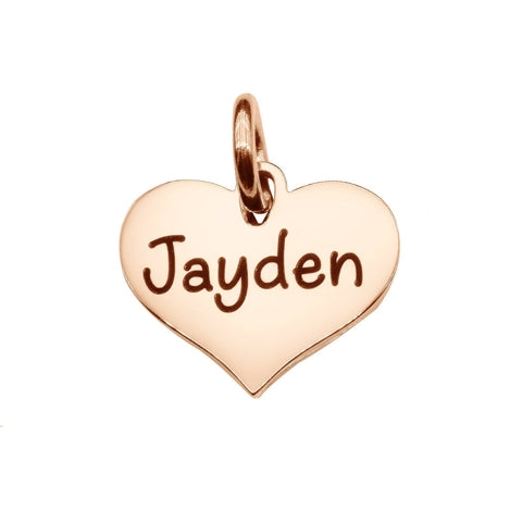 AddOn Special Heart Charm for Keyring-Rose Gold- BELLE FEVER Personalised Jewellery