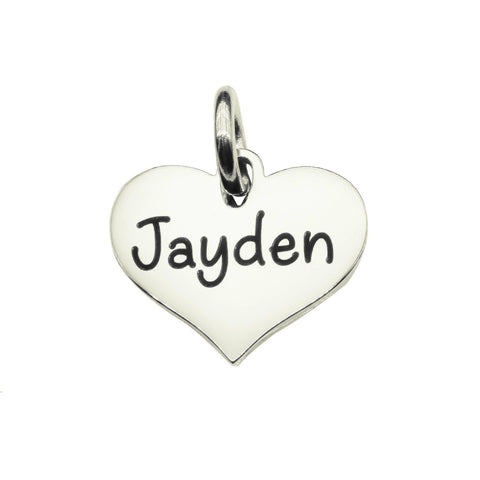 AddOn Special Heart Charm for Keyring-Silver- BELLE FEVER Personalised Jewellery