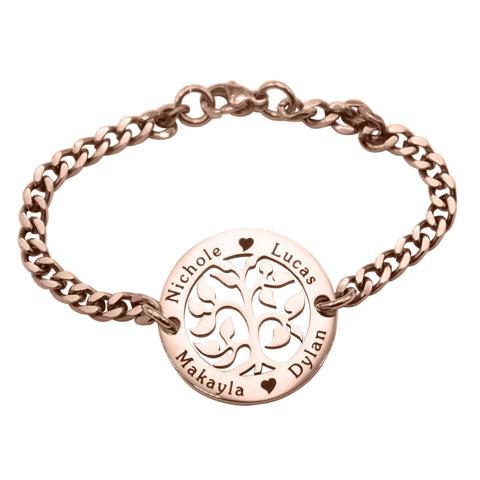 AddOn Special My Tree Bracelet-Rose Gold- BELLE FEVER Personalised Jewellery
