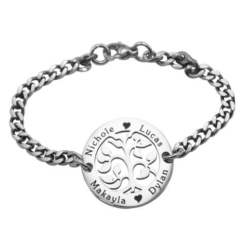 AddOn Special My Tree Bracelet-Silver- BELLE FEVER Personalised Jewellery