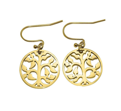 AddOn Special Tree Earrings-Gold- BELLE FEVER Personalised Jewellery