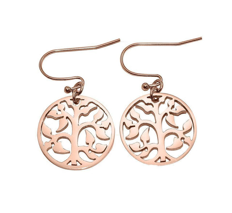 AddOn Special Tree Earrings-Rose Gold- BELLE FEVER Personalised Jewellery