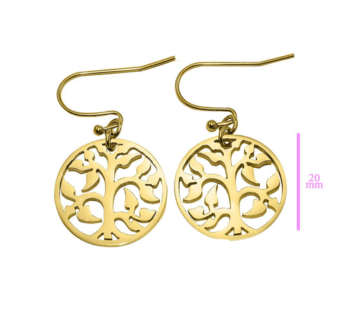 AddOn Special Tree Earrings-Silver- BELLE FEVER Personalised Jewellery
