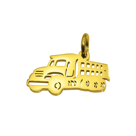 AddOn Special Truck Charm for Keyring-Gold- BELLE FEVER Personalised Jewellery