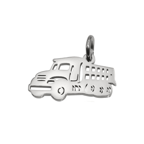 AddOn Special Truck Charm for Keyring-Silver- BELLE FEVER Personalised Jewellery