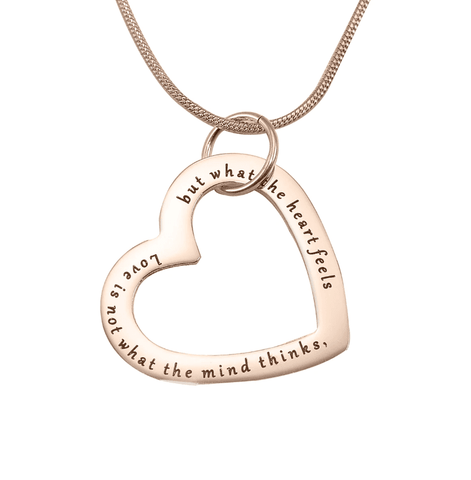 Always in My Heart Necklace-Rose Gold- BELLE FEVER Personalised Jewellery