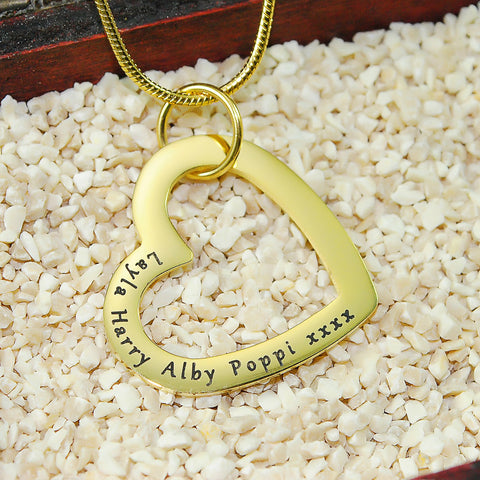 Always in My Heart Necklace-Silver- BELLE FEVER Personalised Jewellery