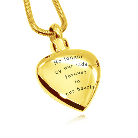 Always Love Canister Necklace-Gold- BELLE FEVER Personalised Jewellery