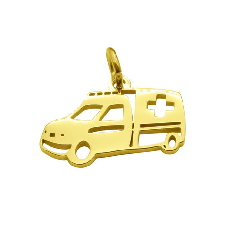 Ambulance Charm for Keyring-Gold- BELLE FEVER Personalised Jewellery