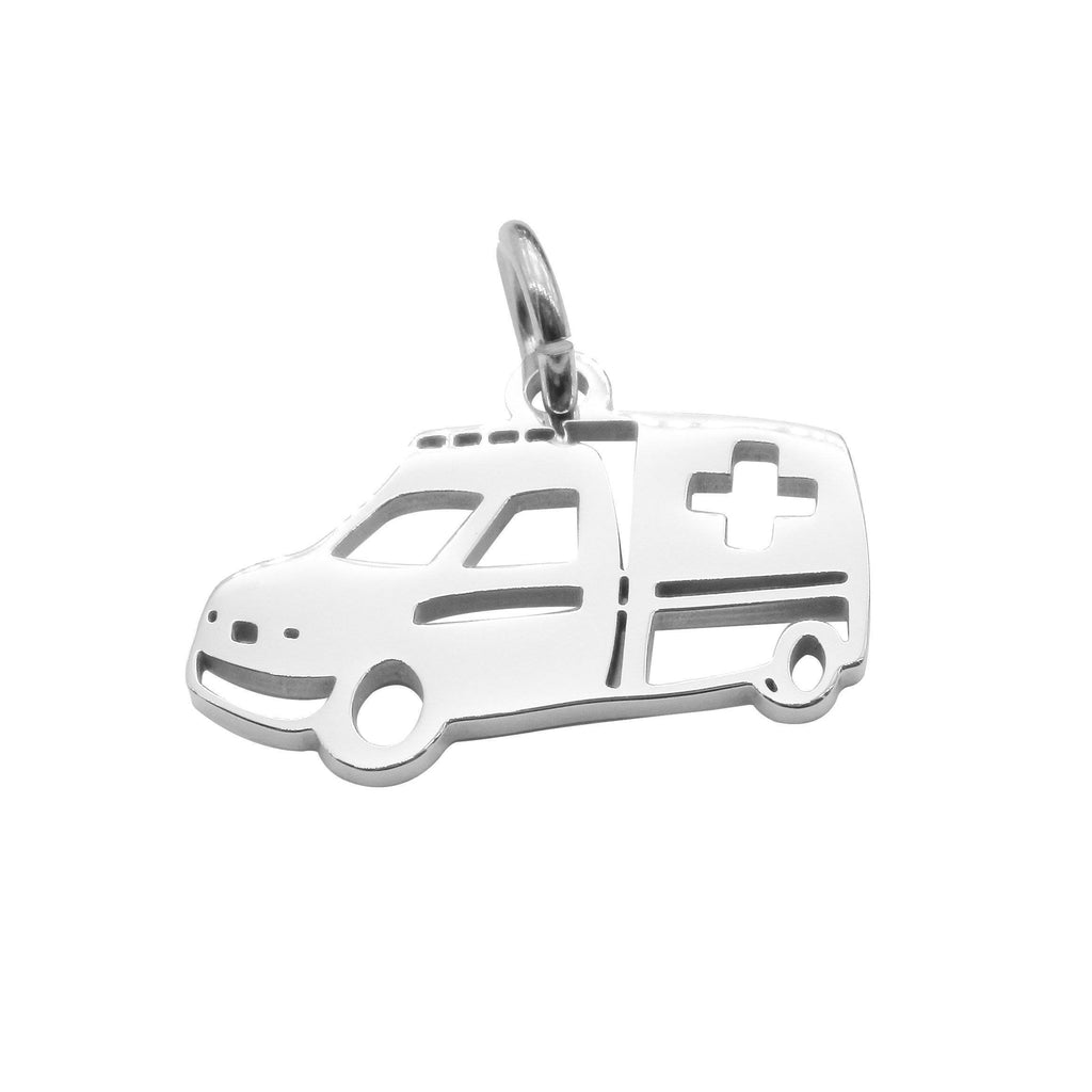 Ambulance Charm for Keyring-Silver- BELLE FEVER Personalised Jewellery