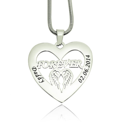 Angel in My Heart Necklace-Silver- BELLE FEVER Personalised Jewellery