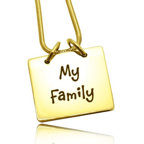 Belle Family Book Necklace-Gold- BELLE FEVER Personalised Jewellery