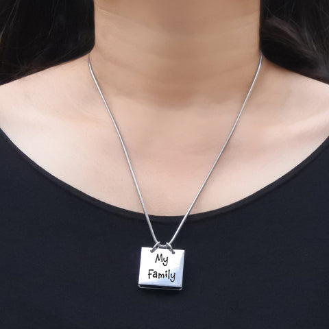 Belle Family Book Necklace-Silver- BELLE FEVER Personalised Jewellery