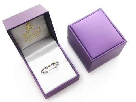 Blushing Ring in Luxury Gift Box-P½ (AU/UK) or 8 (US)- BELLE FEVER Personalised Jewellery